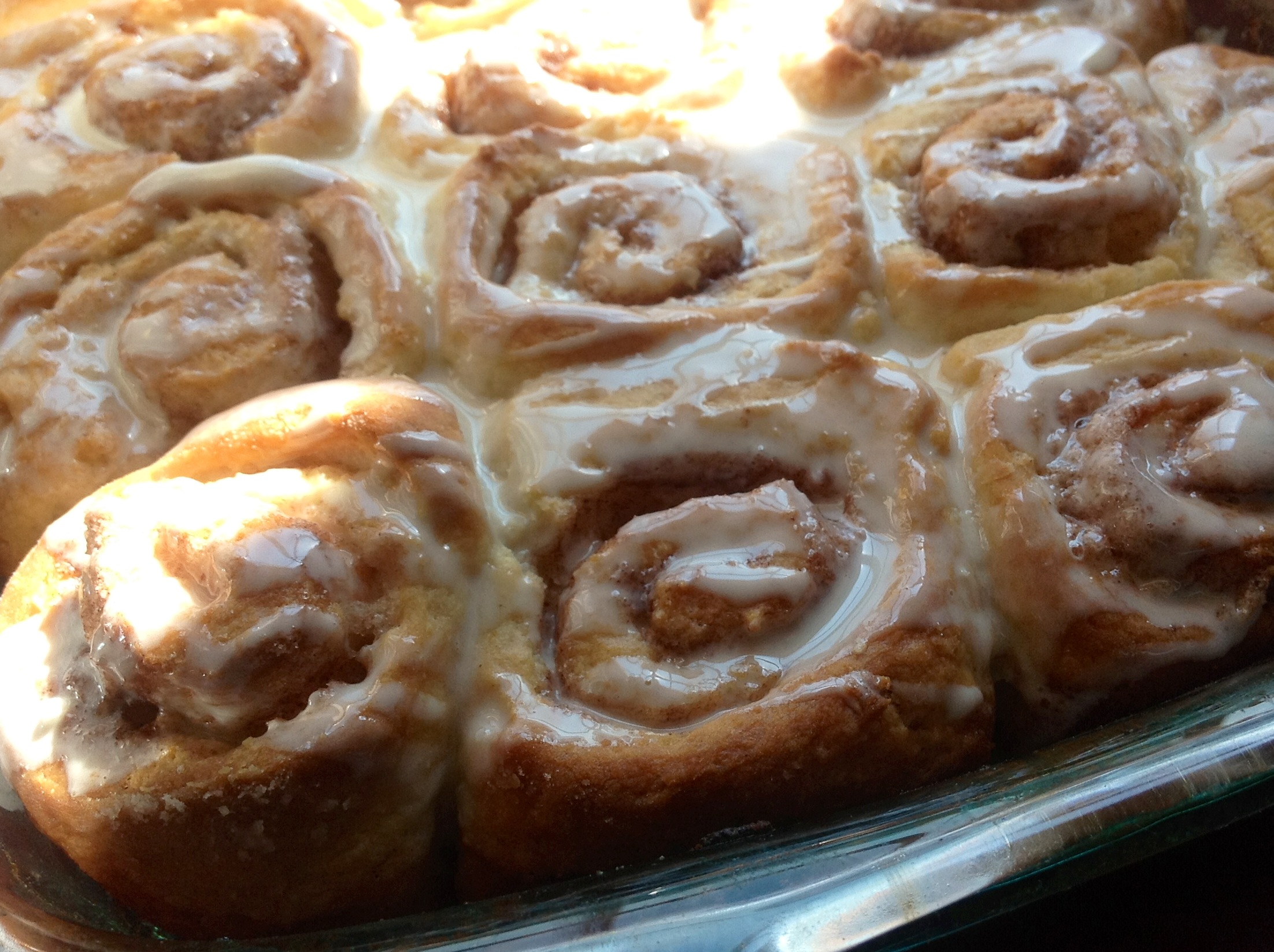 There's a Bun in the Oven. Cinnamon Roll Biscuits. - Ronne Rock