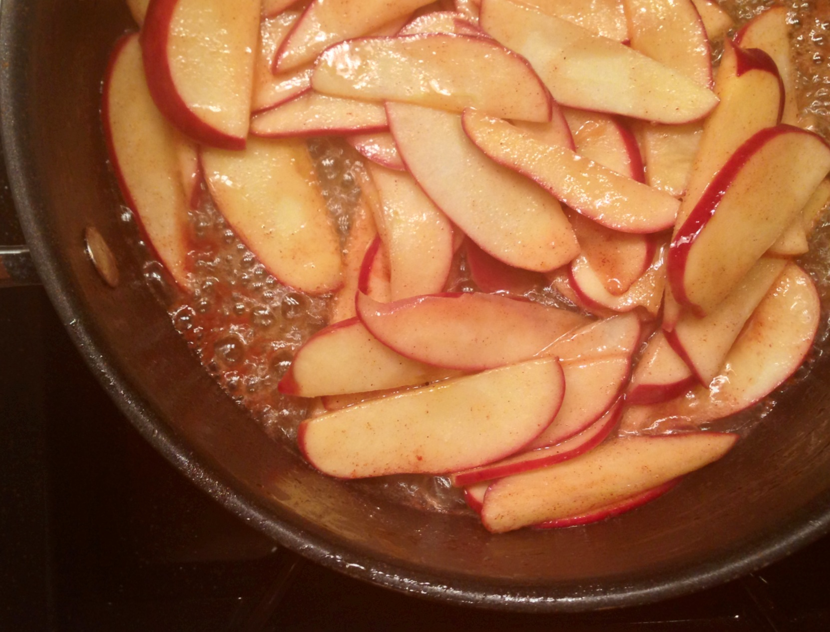 Apples Frying