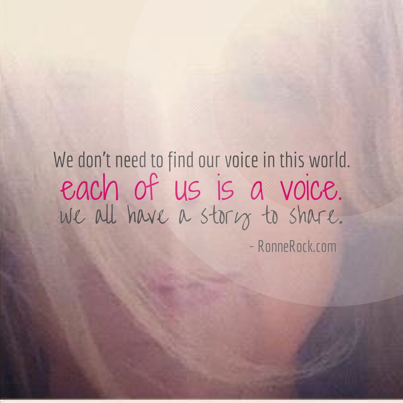 We don't need to find our voice in this